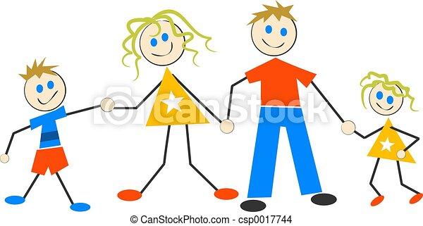 gezin, vrolijke  - csp0017744