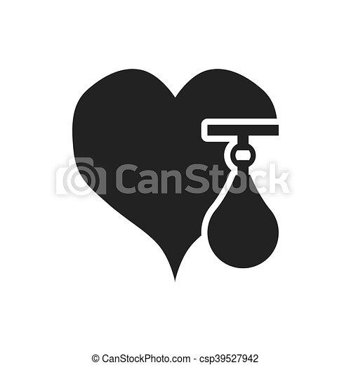 gezond hart, ontwerp, levensstijl - csp39527942
