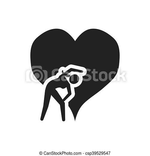 gezond hart, ontwerp, levensstijl - csp39529547