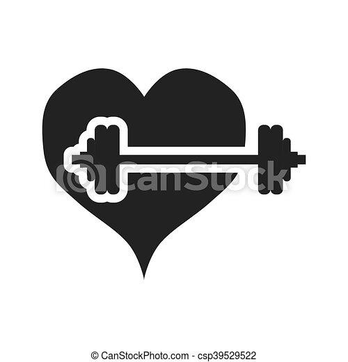 gezond hart, ontwerp, levensstijl - csp39529522