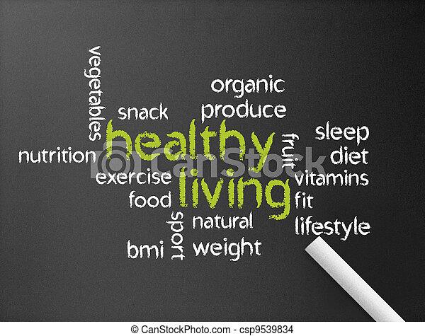 gezond leven - csp9539834