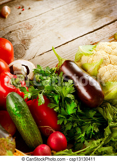 gezonde , bio, organisch voedsel, vegetables. - csp13130411