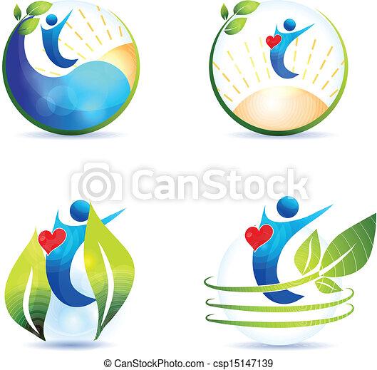 gezonde levensstijl, hart - csp15147139