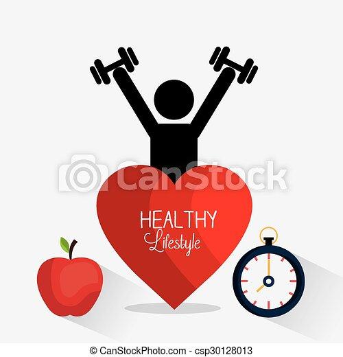 gezonde levensstijl, ontwerp - csp30128013