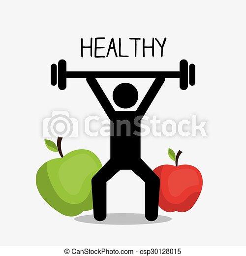 gezonde levensstijl, ontwerp - csp30128015