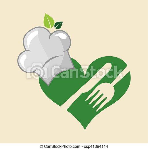gezonde , menu, vegetarian voedsel - csp41394114