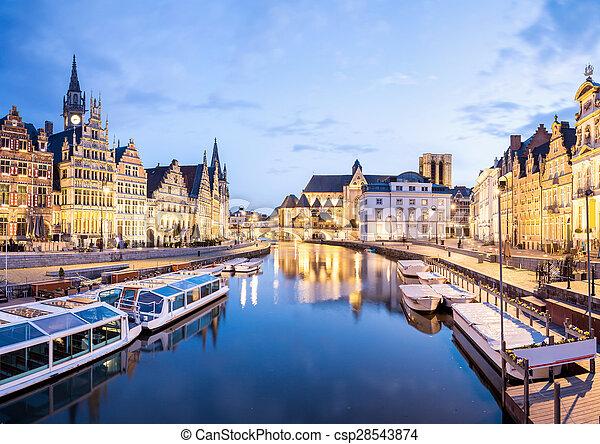 Ghent Belgium - csp28543874