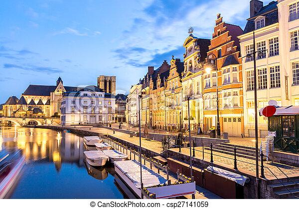 Ghent Belgium. - csp27141059