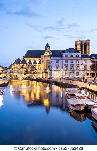 Ghent Belgium. - csp27353428