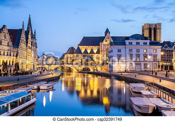 Ghent Belgium - csp32391749