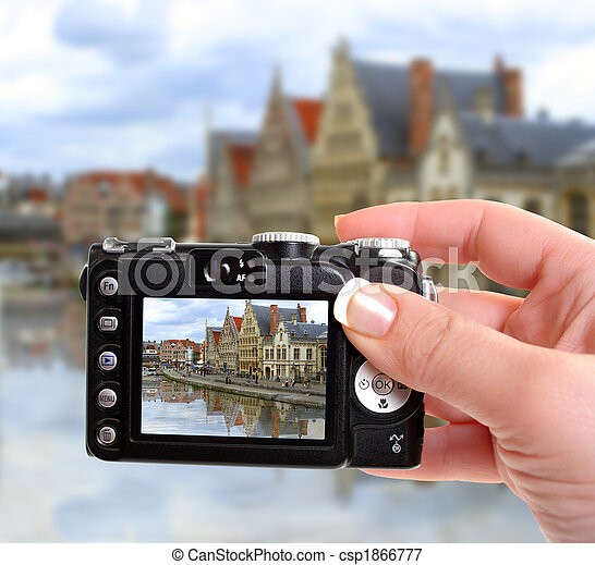 Ghent canal - csp1866777
