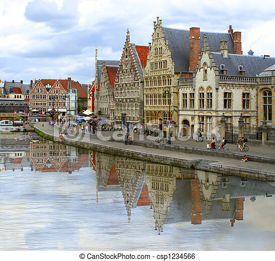 Ghent canal - csp1234566