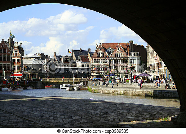 Ghent canal - csp0389535