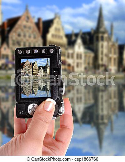 Ghent canal - csp1866760