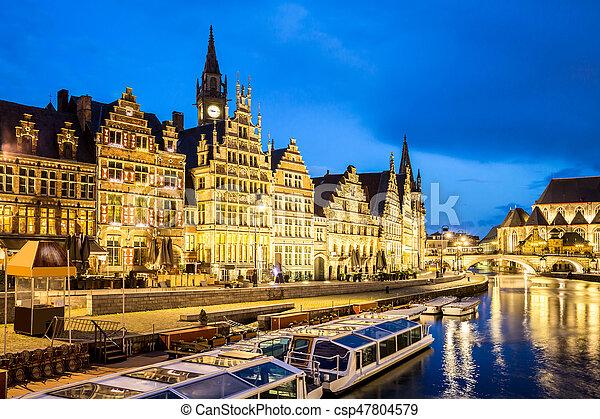 Ghent Old town Belgium - csp47804579
