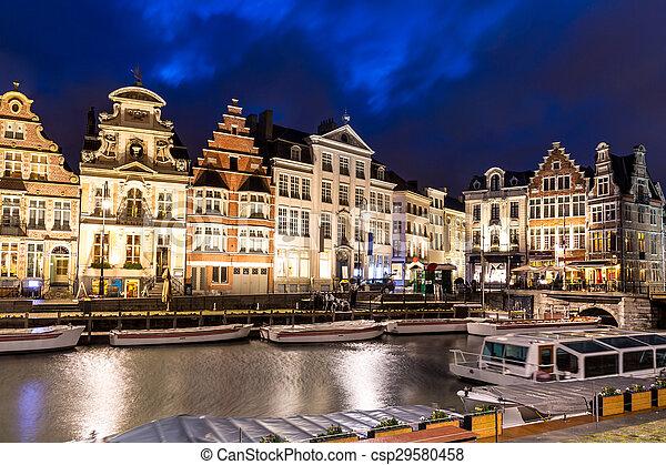 Ghent Old town Belgium - csp29580458