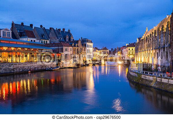 Ghent Old town Belgium - csp29676500