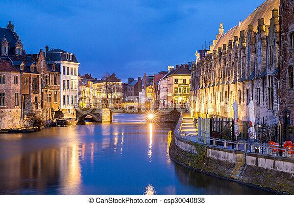 Ghent Old town Belgium - csp30040838