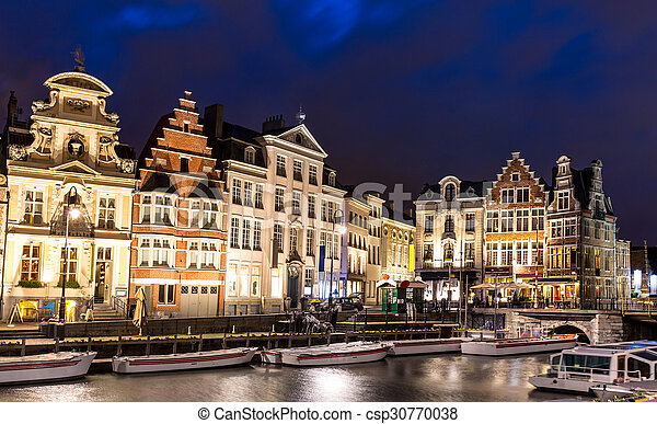 Ghent Old town Belgium - csp30770038
