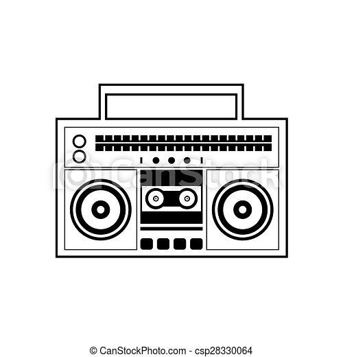 Ghetto blaster radio ghetto blaster radio vector clip art vector ghetto blaster radio csp28330064 sciox Gallery