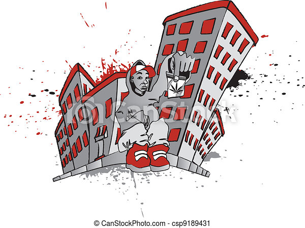 Vector clip art of ghetto blunt street illustration of a guy ghetto blunt street csp9189431 sciox Images