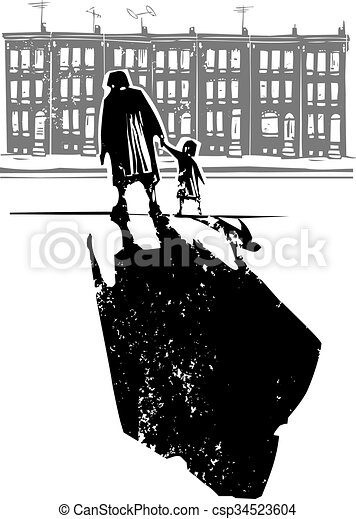 Ghetto family woodcut style expressionist image of an vector ghetto family csp34523604 sciox Gallery