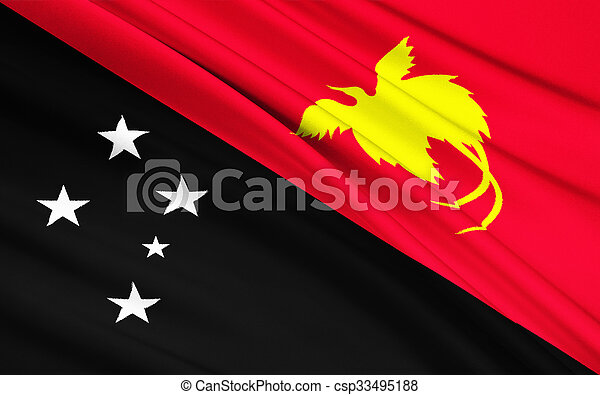 ghinea, -, papua, bandiera, nuovo, moresby, melanesia, porto - csp33495188