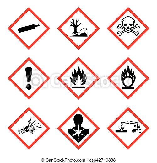 Ghs 9 New Hazard Pictogram Hazard Warning Sign Whmis Isolated