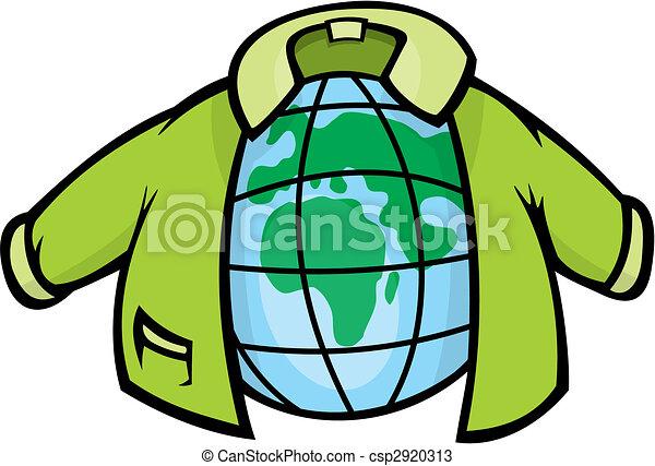 giacca, globo, vettore - csp2920313