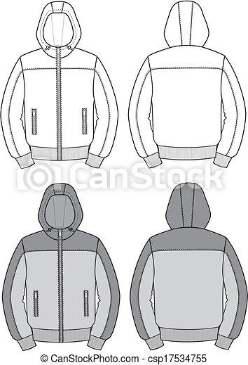 giacca, incappucciato - csp17534755