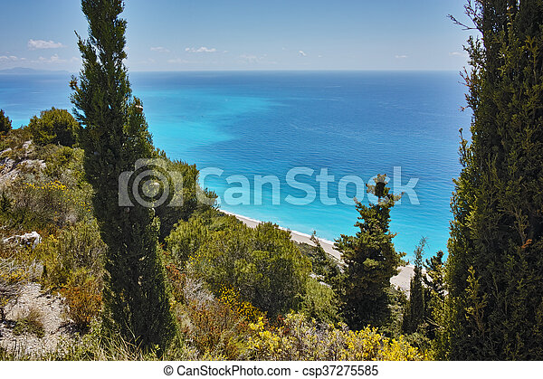Gialos Beach, Lefkada - csp37275585