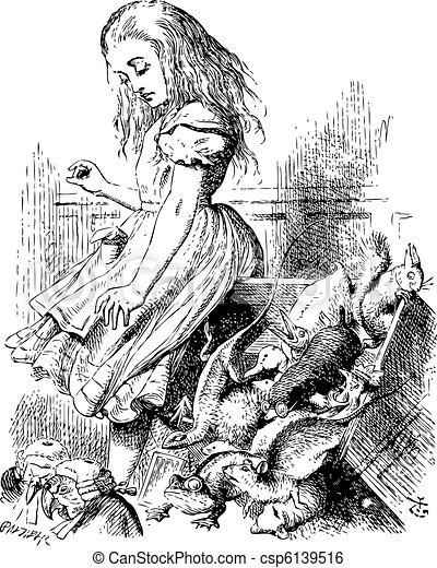 Giant Alice upsets the jury (literally) - Alice's Adventures in  - csp6139516