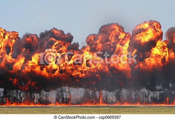 Giant Explosion - csp0669397