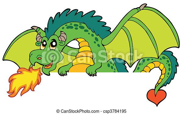Giant green lurking dragon - csp3784195