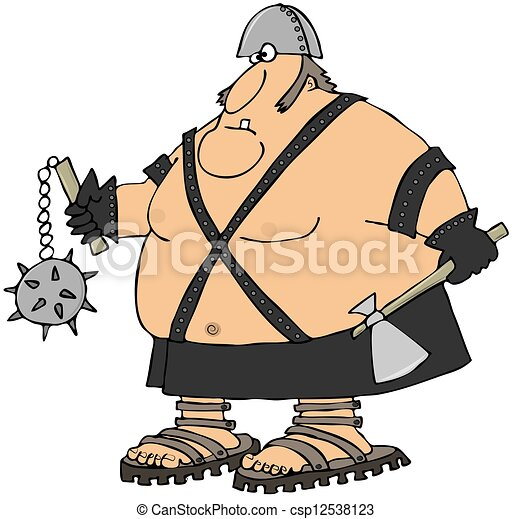 giant warrior this illustration depicts a large man in clip art rh canstockphoto com vector clipart of warriors viking warrior clipart