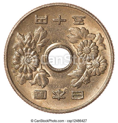 419f039164 Giapponese, moneta, 50, yen. Yen, isolato, 50, giapponese, fondo ...