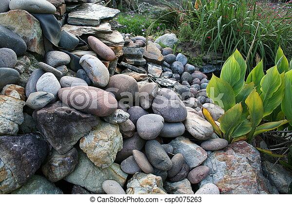 giardino, roccia - csp0075263