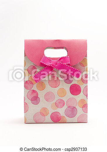 gift bag with red bow - csp2937133