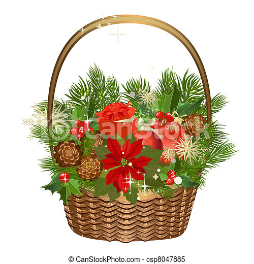 gift basket with flowers and christmas toys - Sign Up For Free Christmas Toys