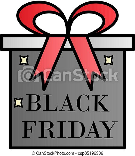 Gift, black friday, the inscription color gradient vector icon - csp85196306
