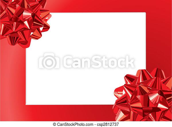 Gift Bows Frame (vector) - csp2812737