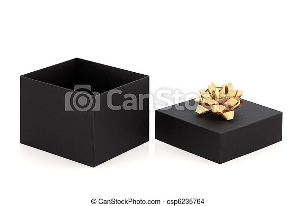 Gift Box and Gold Bow - csp6235764