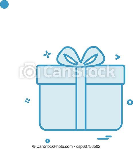 Gift Box Birthday Surprise Icon Vector Design