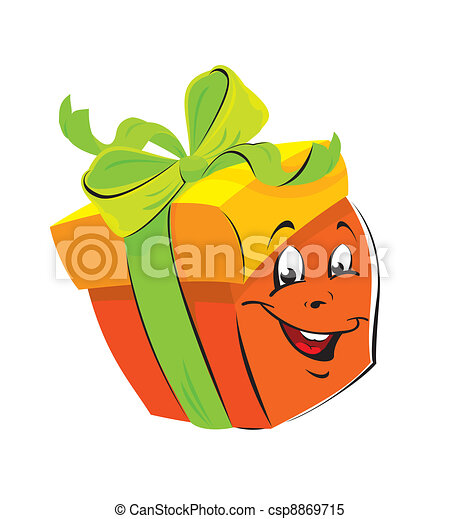 Gift box cartoon with funny face gift box cartoon with funny face csp8869715 negle Choice Image