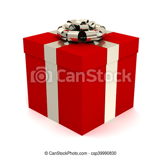 Gift Box Concept 3d Illustration Gift Box 3d Illustration Isolated