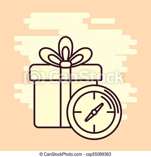 gift box icon - csp55089363