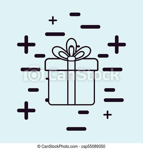 gift box icon - csp55089350