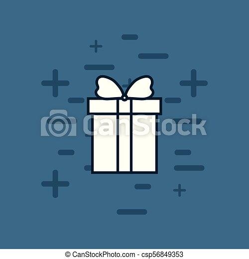 gift box icon - csp56849353