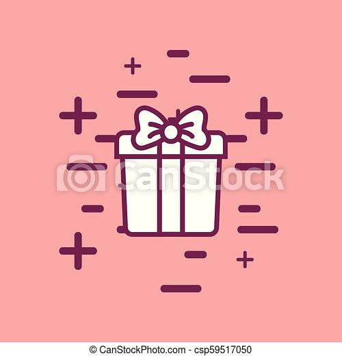 gift box icon - csp59517050