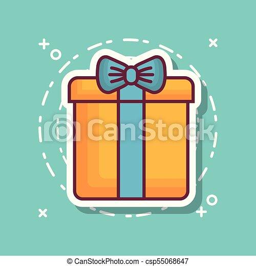 gift box icon - csp55068647